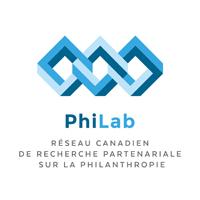 Logo du PhiLab (Réseau canadien de recherche partenariale sur la philanthropie)