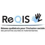 Logo de l'organisme Réseau québécois pour l'inclusion sociale des personnes sourdes et malentendantes